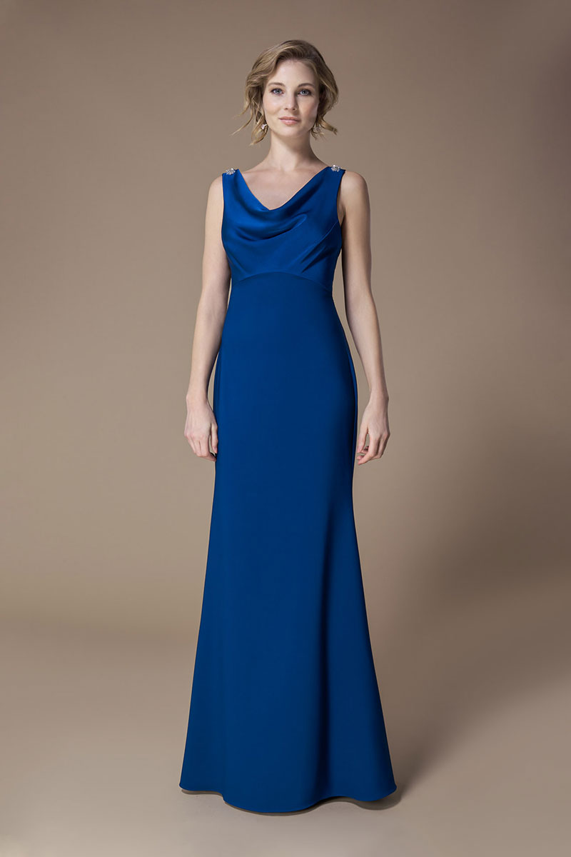 Kelsey Rose Bridesmaid Dress Crystal Cowl