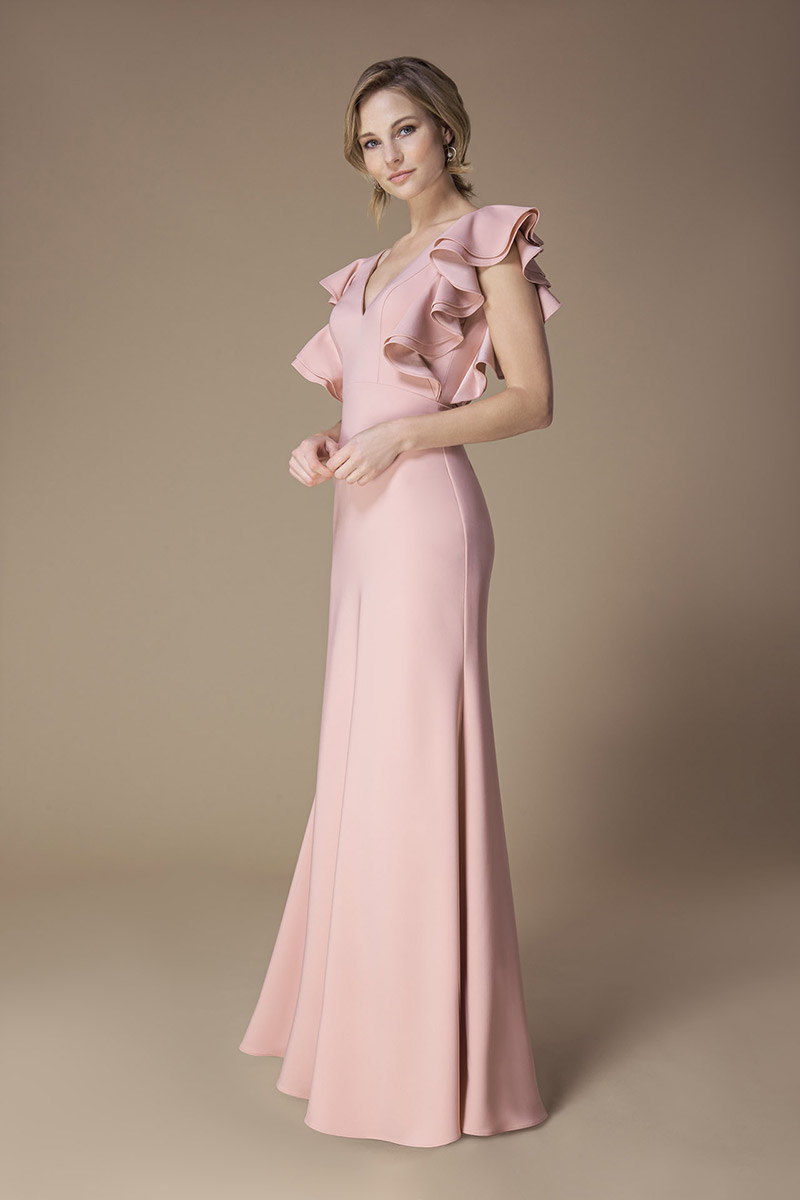 Kelsey Rose Bridesmaid Dress Satin Crepe Ruffle