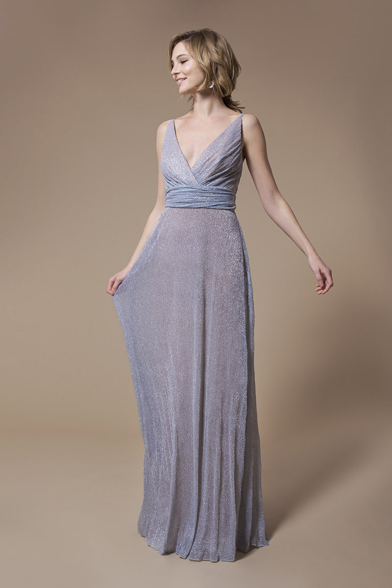 Kelsey Rose Bridesmaid Dress Glitter Pleats