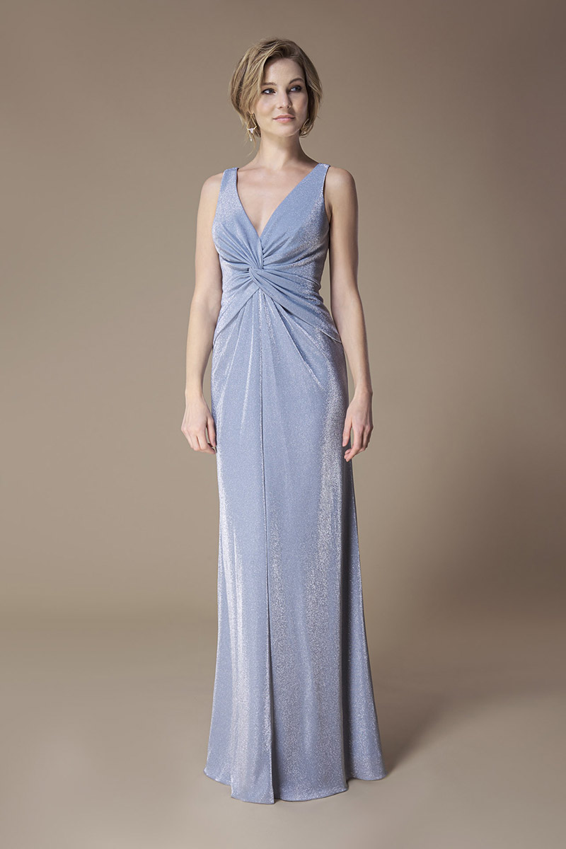 Kelsey Rose Bridesmaid Dress Metallic Twist